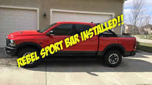 Ram Rebel Go Rhino 2.0 Bed Bar Installed!!! - YouTube