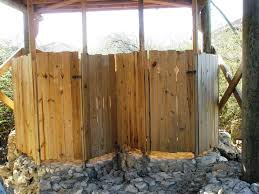 Rustic Outdoor Shower Stall Kits