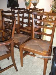 Antique Chippendale Ladder Back Country Dining Chairs Rush Seats Set 6 Guy Chaddock Melrose Custom Handmade Fniture Cf0485s Country French Ding Chairs With Ladder Back And Rush Seats Antique Farm Carved Tall Seat Room Set Of 6 Provincial In Walnut 10 Louis Xv Style Oak Leather Nailhead Recliner Chair Vintage White Of Four Six Xiv Ladderback Scalloped Stretchers Inspire Q Eleanor Wood 2 By Dec 16 2018