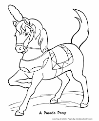 Circus Horses Coloring Page