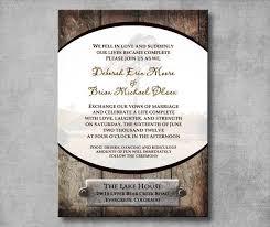Printable Rustic Western Wedding Invitation