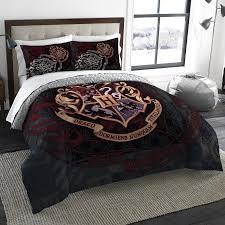 harry potter school motto twin full bedding comforter set comes