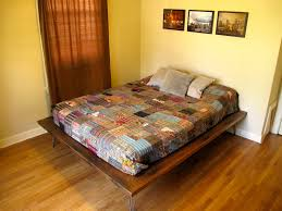 Reclaimed Wood Platform Bed Plans by Slab Table Hairpin Legs New Platform Bed It Features Hairpin