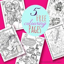 Five Free Printable Colouring Pages