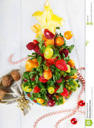 Download Creative Fruit Christmas Tree With Different Berries Fruits And Stock Image