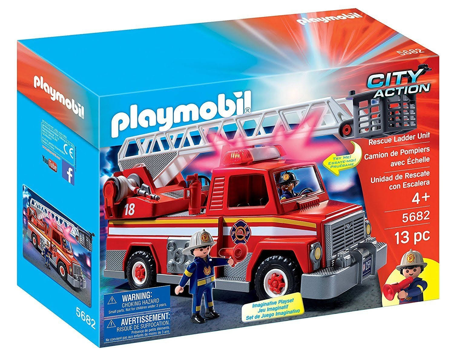 Playmobil 5682 City Action Rescue Ladder Unit