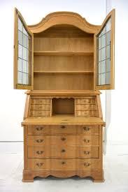 oak writing bureau furniture light oak bureau with bookcase