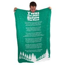 Twas The Night Before Halloween Poem by Running Sherpa Fleece Blanket Twas The Night Before The Race