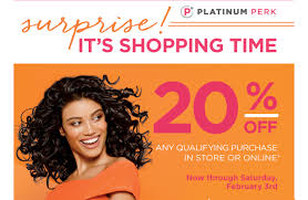 Ulta: Platinum Members, Check Your Email For A 20% Off ... Gorgeous Hair Event Ulta Beauty 20 Off Ulta Coupon October 2019 Zappos Coupons And Promo Codes September Off Universal One Nonprestige Item Online Skin Beauty Mall Code Recent Discounts Shipping Ccinnati Ohio Great Wolf Lodge 21 Stores You Shouldnt Shop Unless Have A Coupon The Promo 2018 Snappy Nails Broomfield Battery Mart Everything April Ulta 7 Best 350 Sep Honey Apple Discount For Teachers Inksmile Com