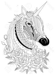 Best Horse Head Coloring Pages Vector Library