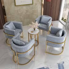 nordic schmiedeeisen einzigen sofa stuhl goldene stuhl cafe
