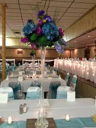 Blue Purple Floral Centerpieces