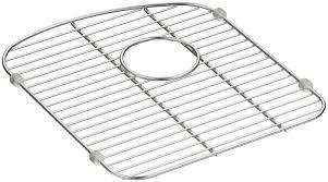 kohler langlade smart divide stainless steel sink rack for left
