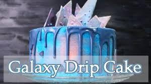 helle galaxy torte mit schoko deko drip cake