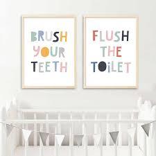 bunte baby kindergarten zitate poster lustige druck leinwand