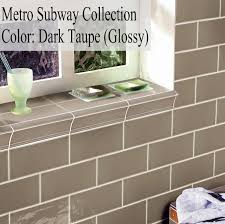 metro subway tile taupe 3 x 6 ceramic wall tile 2 49