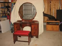 Waterfall Vanity Dresser Set by Antique Vanity With Mirror Value Home Vanity Decoration