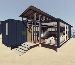 100 Container Houses China Deluxe Ocean View Modular Prefabricated 40feet Shipping