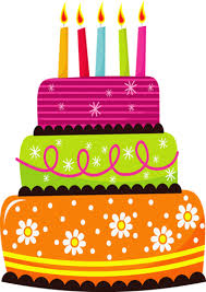 Blue birthday cake clipart
