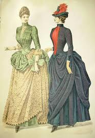 1880s 1890s Godeys Fashions Color Print Original VICTORIAN