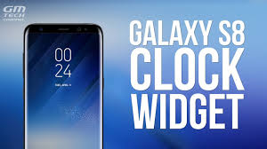 Galaxy S8 Clock Wid for Any Android Phone