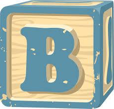 Letter block B