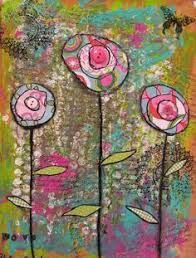 Mixed Media Flowers Great Way To Add Structure Kids Art N Still Have Them Make It