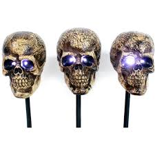 Motion Activated Halloween Decorations by Halloween Skull Markers 3pk Halloween Decoration Walmart Com