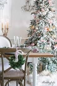 Elegant Blush Pink On The Dining Room Holiday Tree