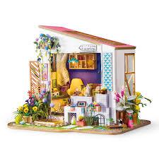 Amazoncom ROBOTIME DIY Assemble Dollhouse Kits Miniature House
