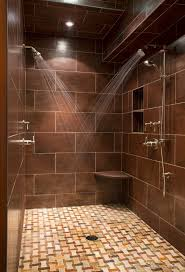 recessed shower niche bathroom transitional with tile