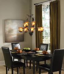 light lovely dining room decoration with pretty chandelier by