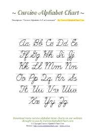 Uppercase & Lowercase Cursive Alphabet Charts with Arrows in PDF