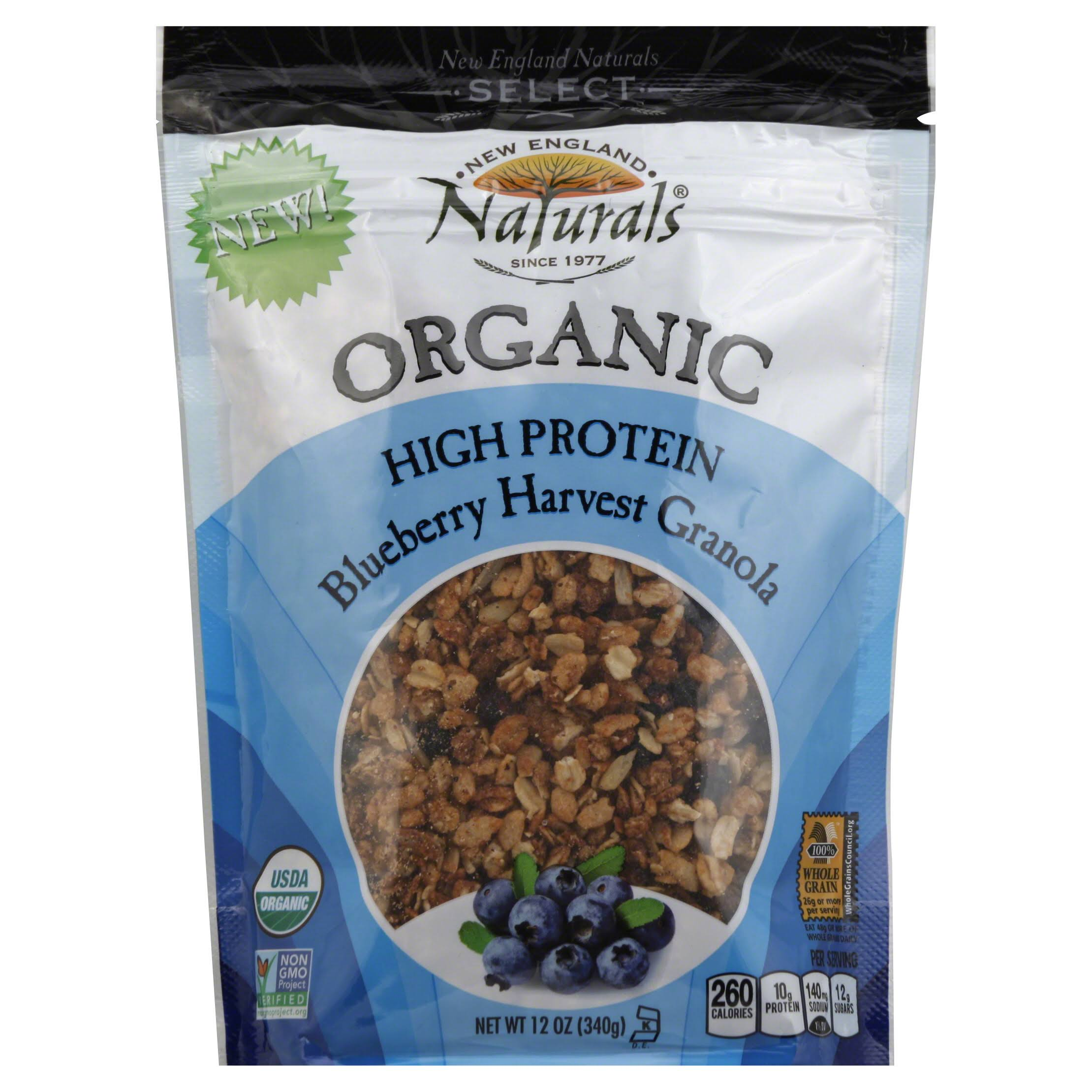 New England Naturals Select Granola, Organic, Blueberry Harvest - 12 oz