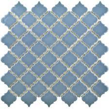 blue shower floor tile wayfair