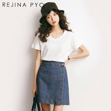2017 Summer Fashion Street Korean New Loose Cotton Large Size Short Sleeved V Neck Womens Girls T Shirt In Shirts From Clothing