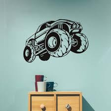 100 Monster Truck Bedroom Vinyl Wall Sticker For Kids Room Adesivo De Parede