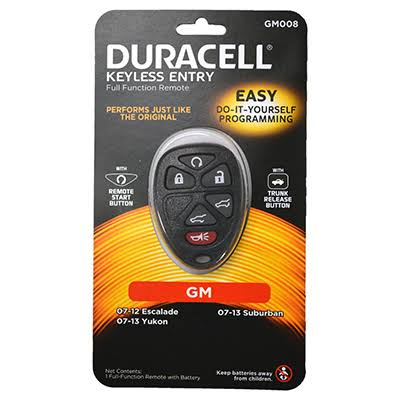 Duracell GM008D Keyless Entry Full Function Remote