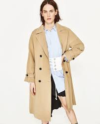 bell sleeve trench coat new in zara united states