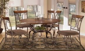 Wood And Metal Tables Oval Dining Table Ashley Furniture