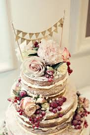 Just Married Naked Wedding Cake