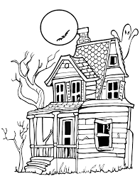 Haunted House Free Halloween Coloring Pages