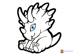 Printable Cute Baby Dinosaurs Coloring Pages