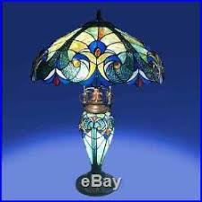 Tiffany Style Lamps Vintage tiffany style lamp vintage classic look base lamp handcrafted
