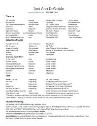 Acting Resume Special Skills List Examples Actor