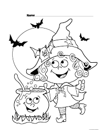 Witch Costumes Coloring Page For Kids