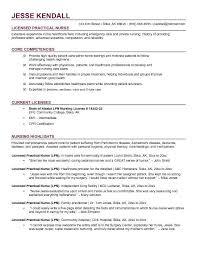 Example Of Lpn Resume