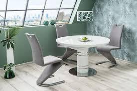 details zu esstisch tisch designertisch polar luxus glas keramik weiss glänzend esszimmer