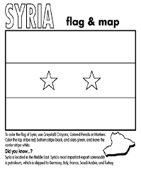 Syria Coloring Page Crayola Free Pages Print