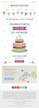 Whistlefish Birthday Celebration Email With Discount Coupon ... Getting Started With Privy Support Klooks Birthday Blast Deals And Promo Codes How To Book To Utilize For Holiday Shopping Marketing Cssroads Rewards 90 Off Cmogorg Coupons October 2019 Promotions Treat Your Customers 40 Military Discounts In On Retail Food Travel More Get 10 Off On First Order Custom Magnets As Limited Discoverbooks Twitter Happy All The Google Welcomes Its 21st Birthday A Nostalgic Doodle Of